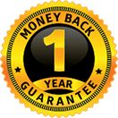1 year money back guarantee seal