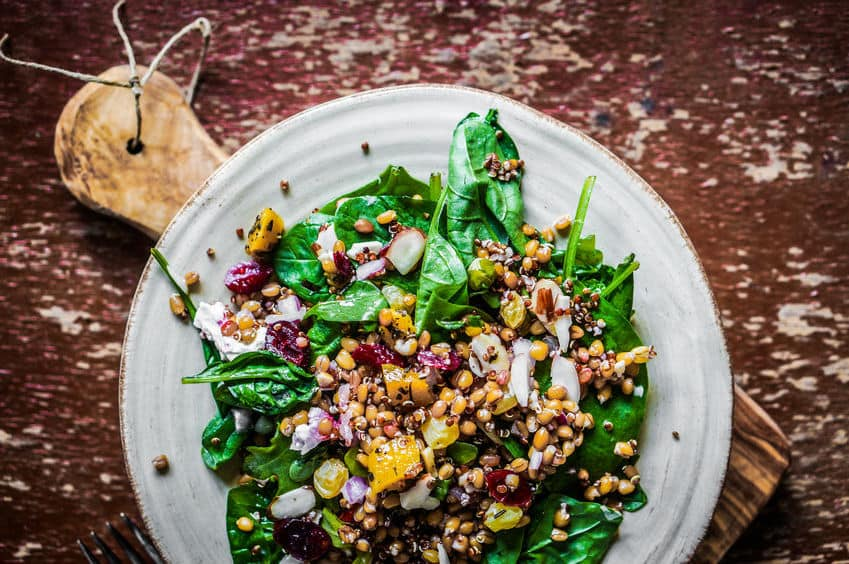 Lentil salad - boron rich food
