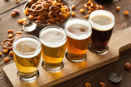 Beer flight with nuts - Alcohol osteoporosis