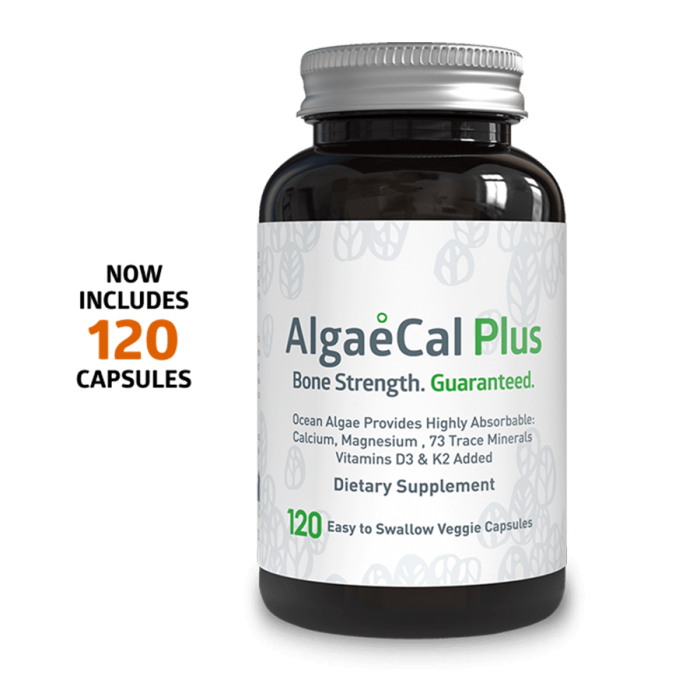 Algaecal Plus Single Bottle 120 Capsule Count
