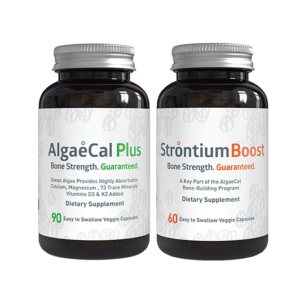 Bone builder pack - 1 AlgaeCal Plus and 1 Strontium Boost