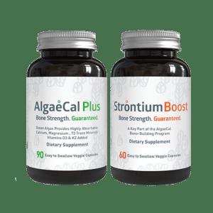 Bone builder pack - 1 AlgaeCal Plus and 1 Strontium Boost