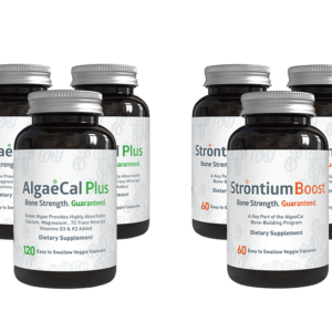 Bone builder pack - 4 AlgaeCal Plus and 3 Strontium Boost