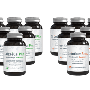 Bone builder pack - 8 AlgaeCal Plus and 6 Strontium Boost
