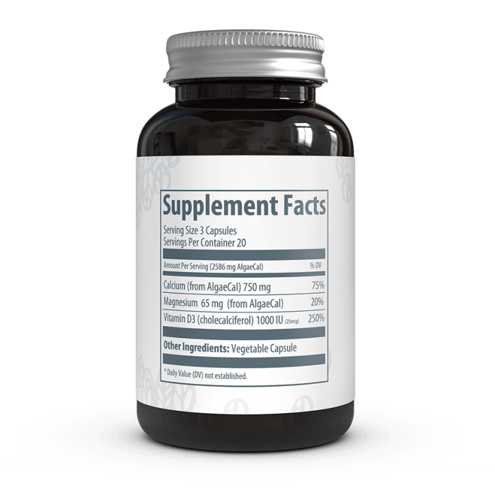 AlgaeCal Basic Supplement Facts