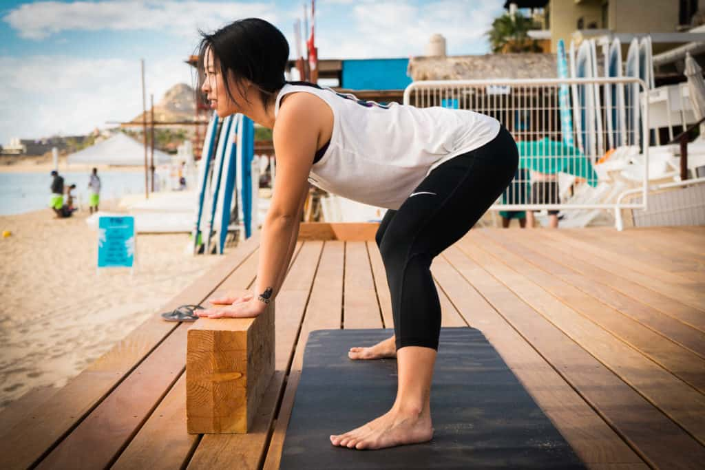 Modified Wide-Legged Forward Bend Yoga Pose