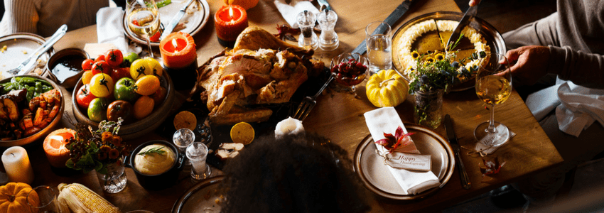 Pumpkin Pie with thanksgiving meal