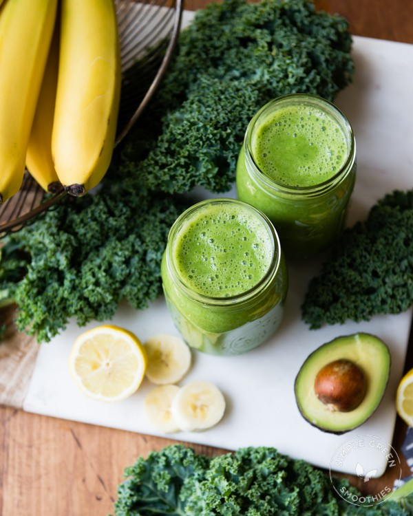 Avo Banana Kale Green Smoothies