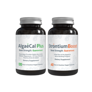Bone Builder Pack, 1 Bottle of AlgaeCal Plus and 1 Bottle of Strontium Boost