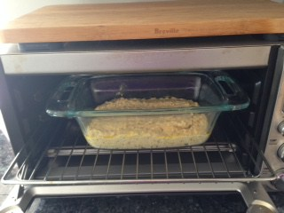 Quick corn bread in oven