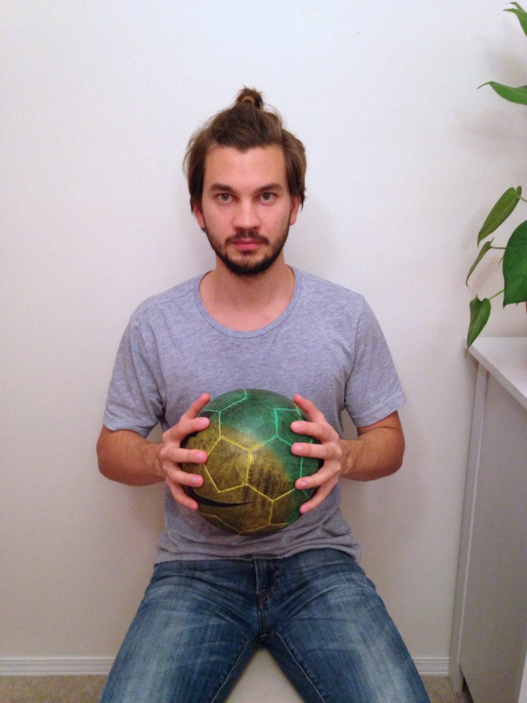 Seated Hand Squeeze Ball Exercise