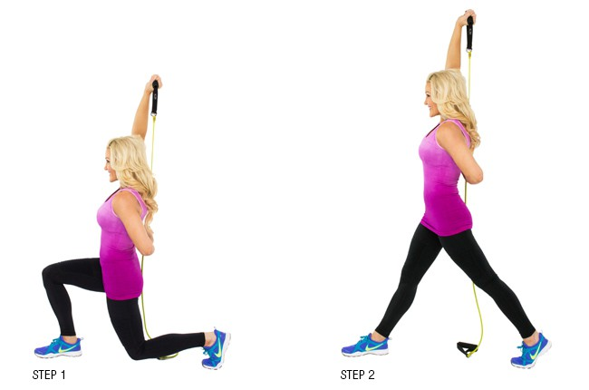 Lunge with Overhead Extension