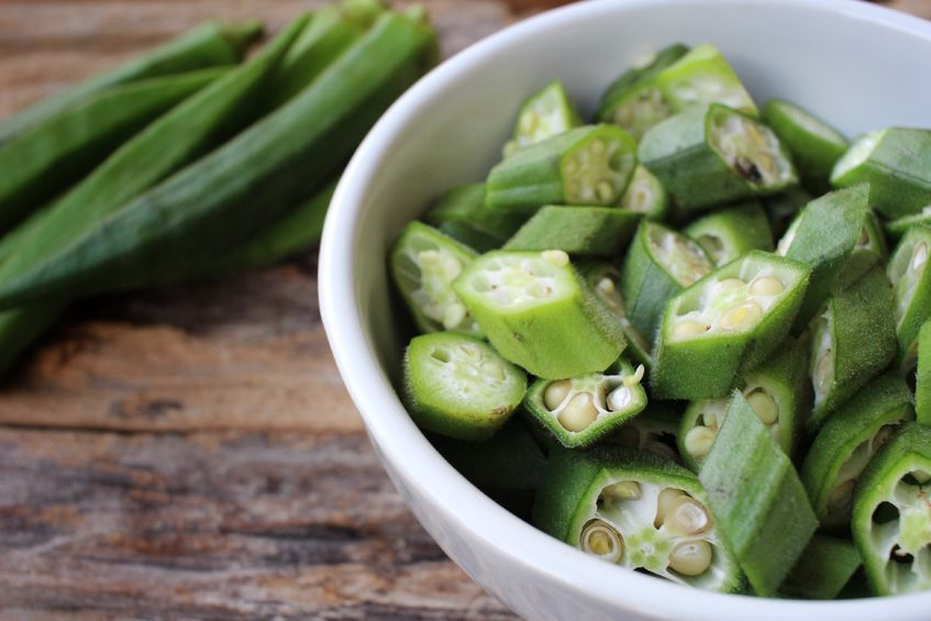 vegan calcium sources - okra