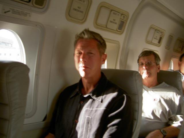 Dean on a plane