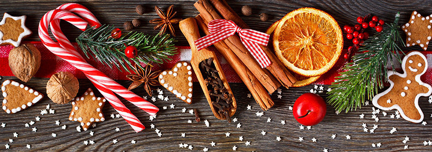 Christmas candy canes, cinnamon