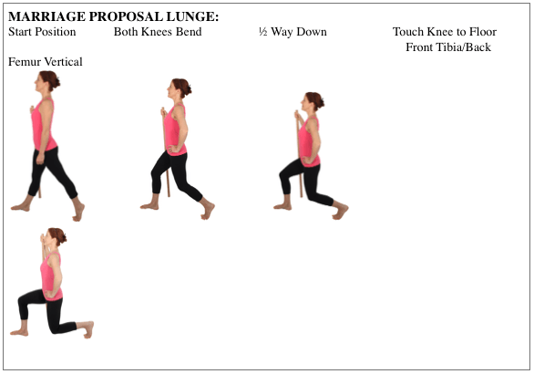 Exercises for Osteoporosis: Marriage Proposal Lunge