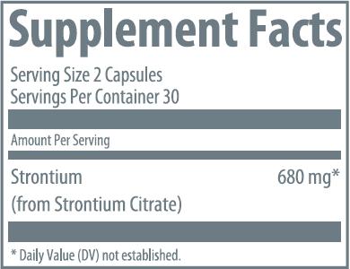 Strontium Boost Label