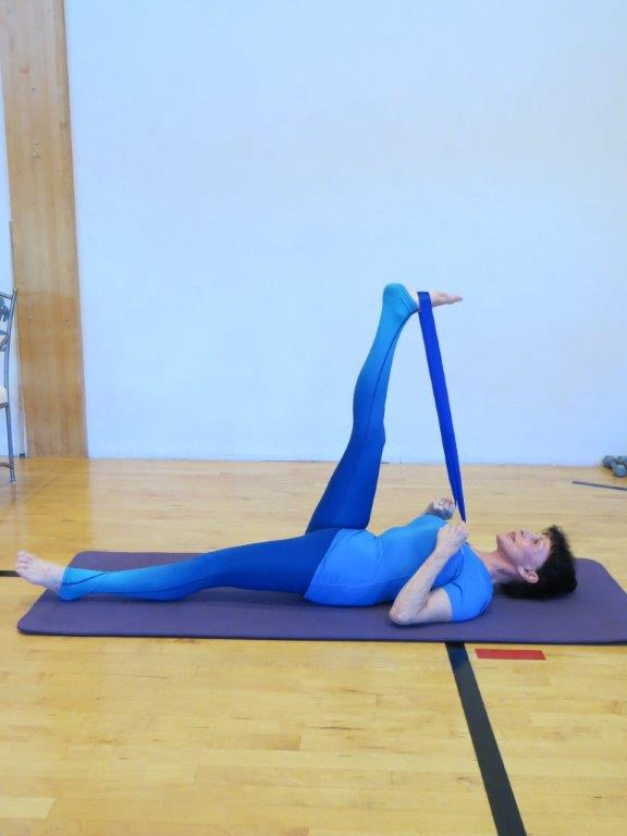 Supine hand to foot 1 Pose