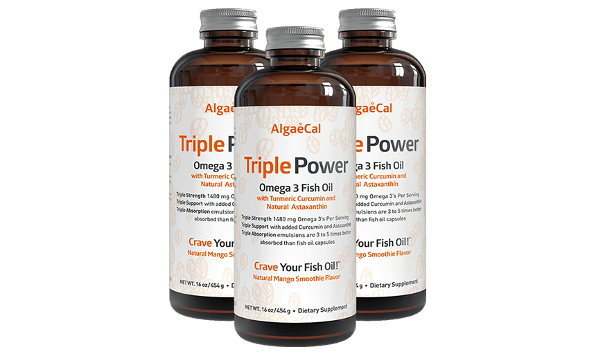 Three bottles of Triple Power fish oil