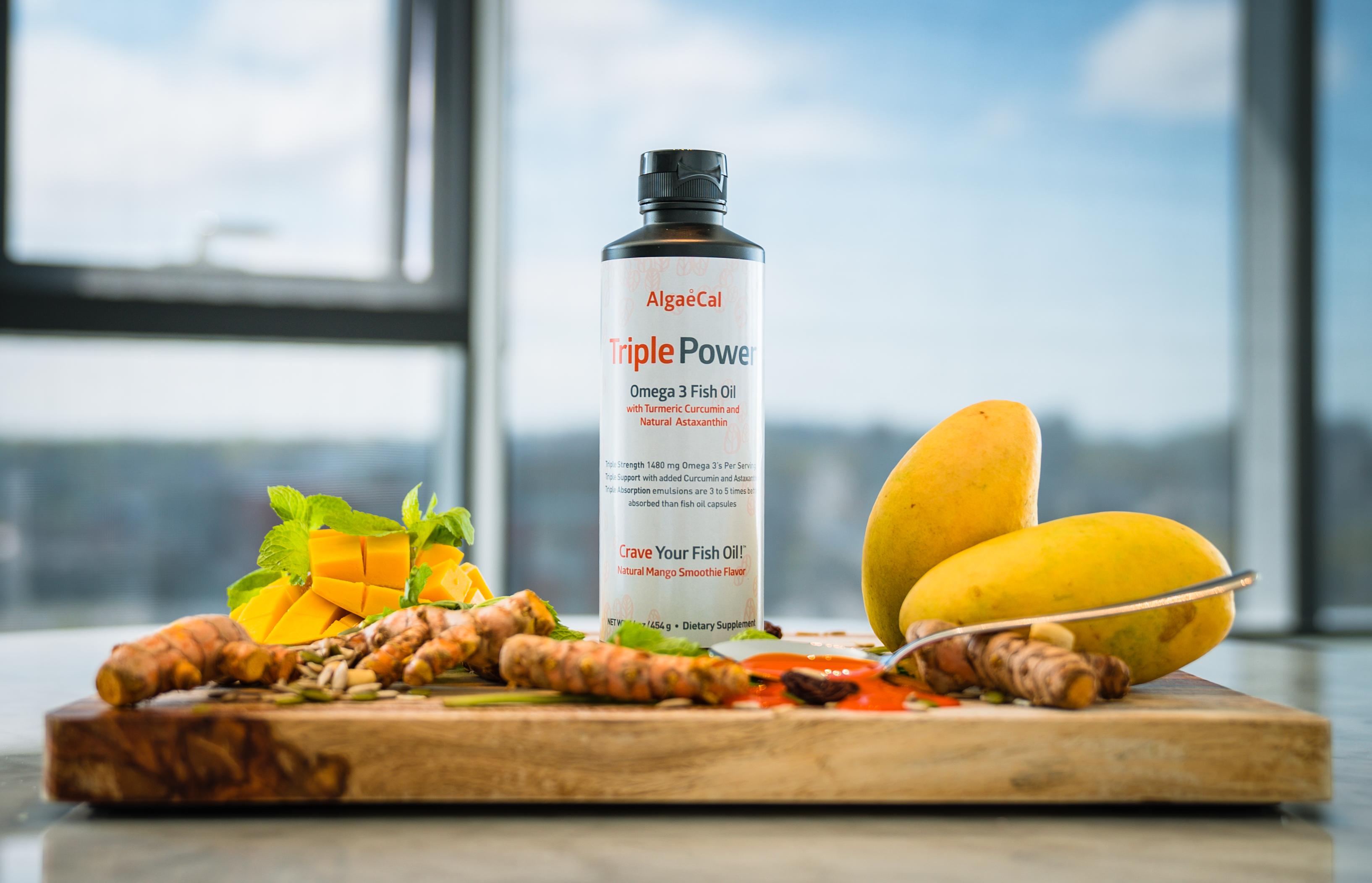 Triple Power Fish Oil Bottle Photo