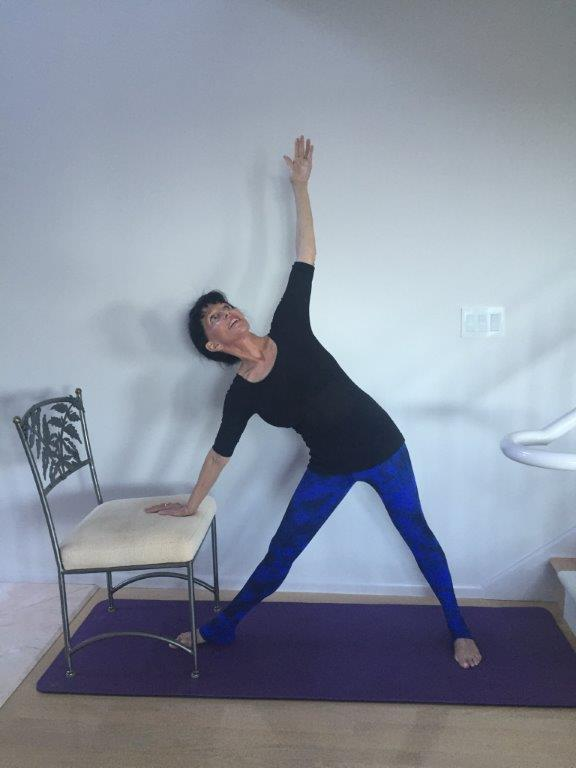 Yoga for Osteoporosis - Triangle pose