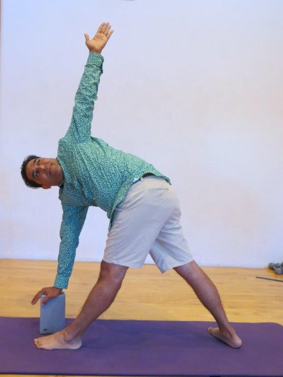 Twisted Triangle aka Parivrtta Trikonasana pose
