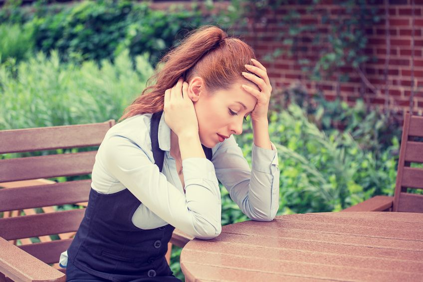 stress and thyroid health stressed woman