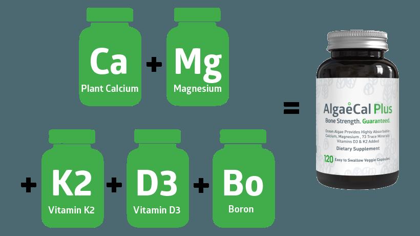 Ingredients in AlgaeCal Plus