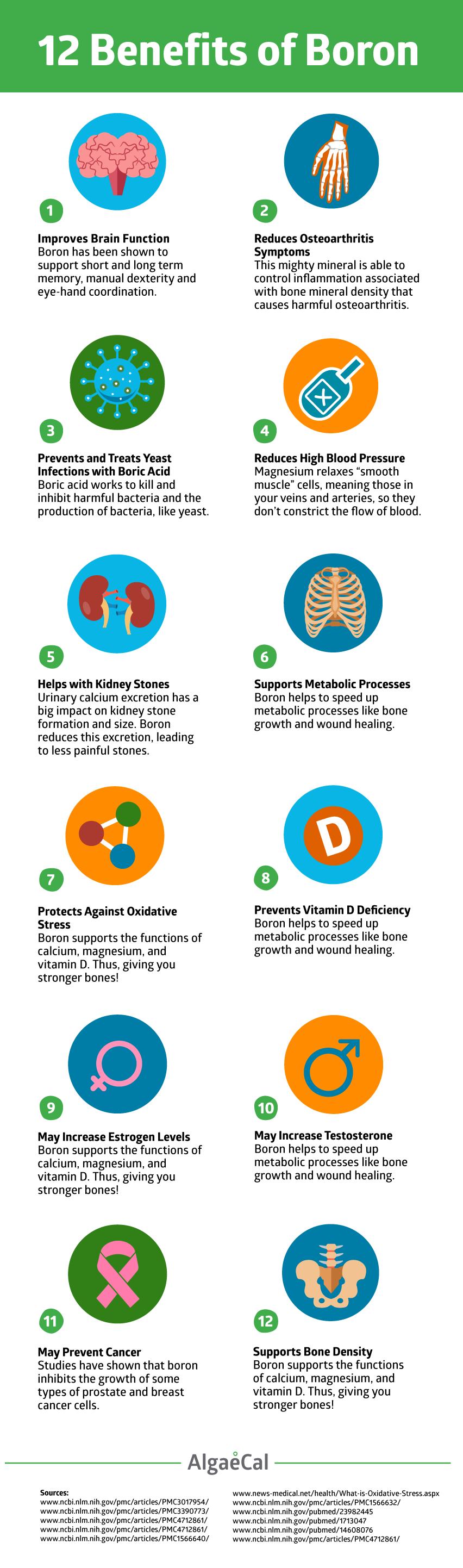 Benefits of Boron Infographic