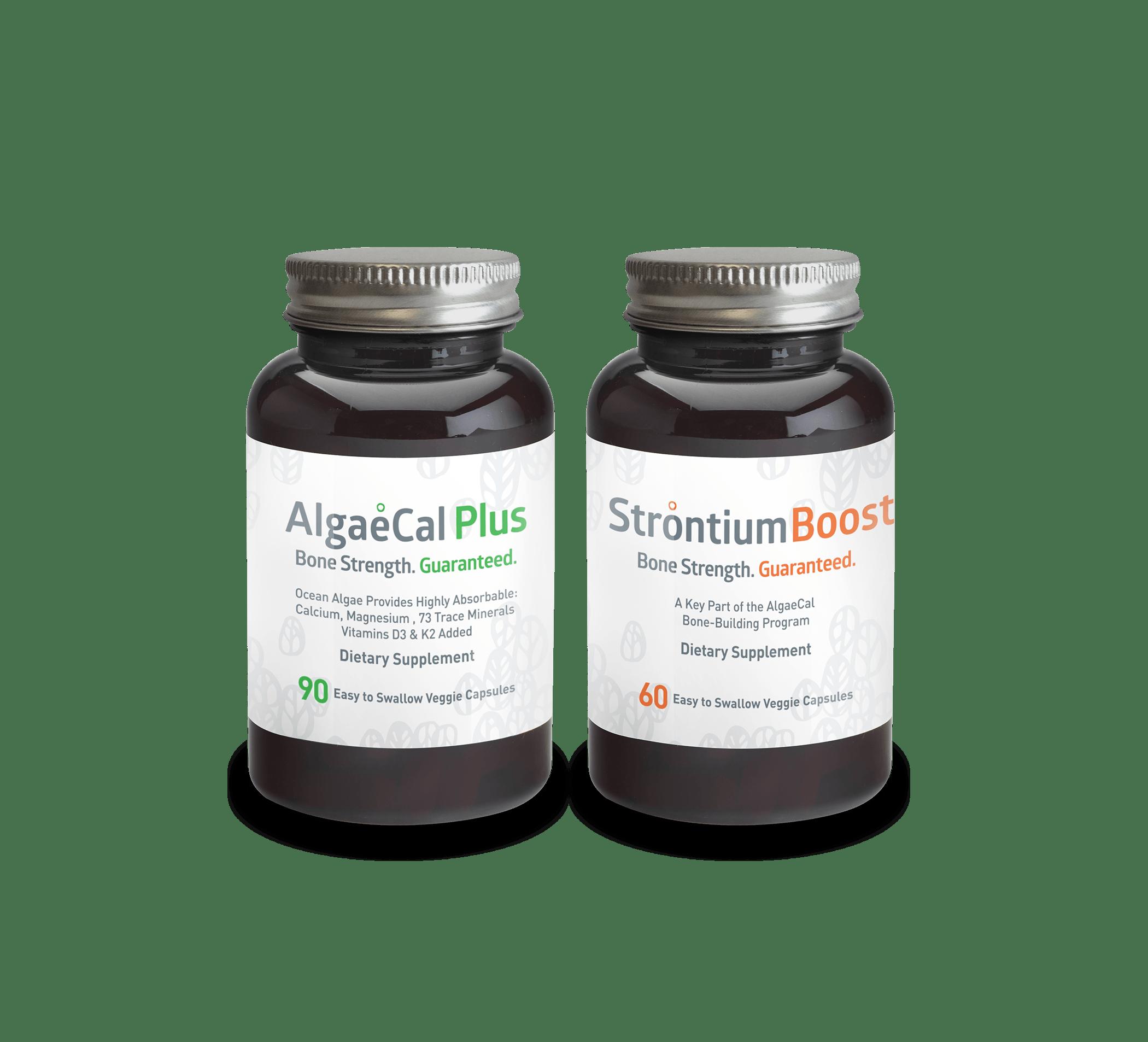 AlgaeCal Plus and Strontium Boost - Bone Builder Pack