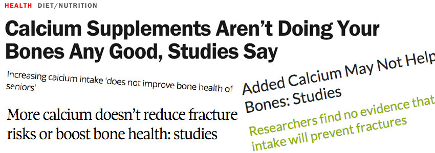 False calcium headlines