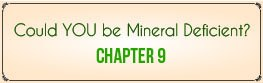 Chapter 9: Could YOU Be Mineral Deficient?
