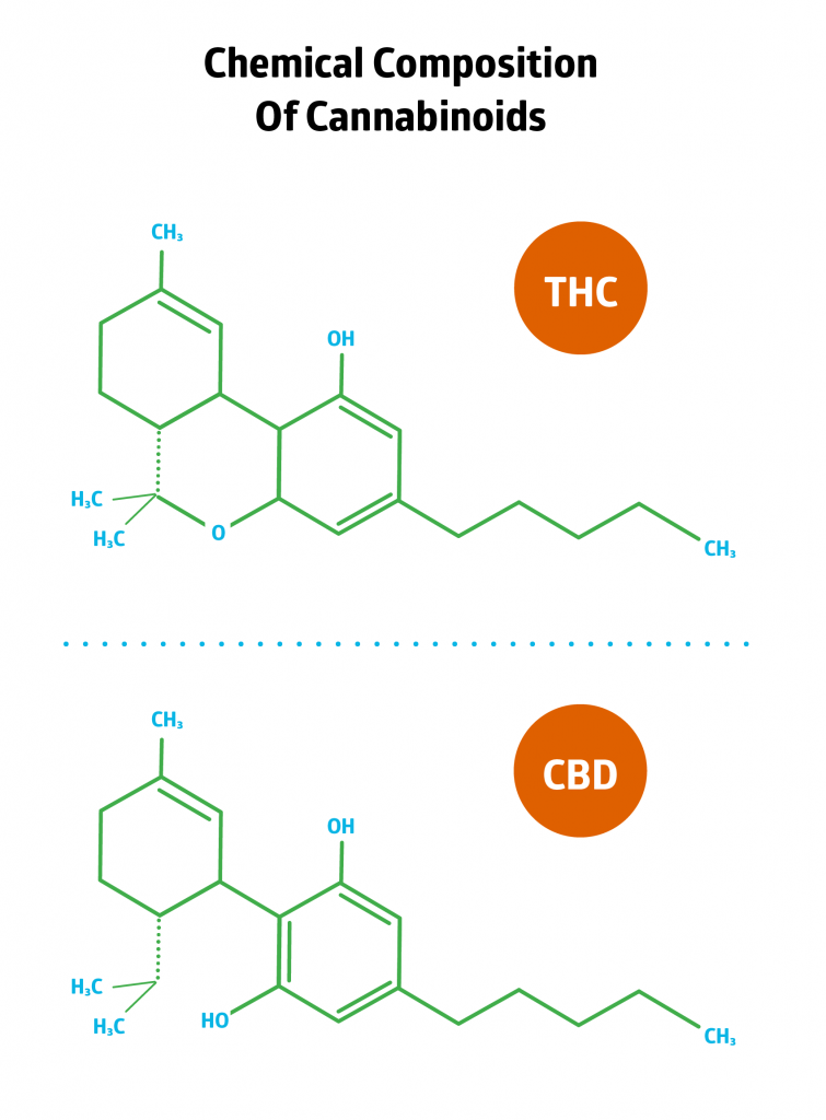 The Chemical Composition of THC and CBD
