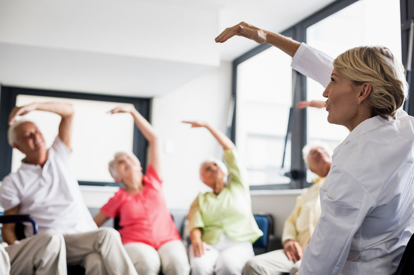 easy chair exercises for the elderly