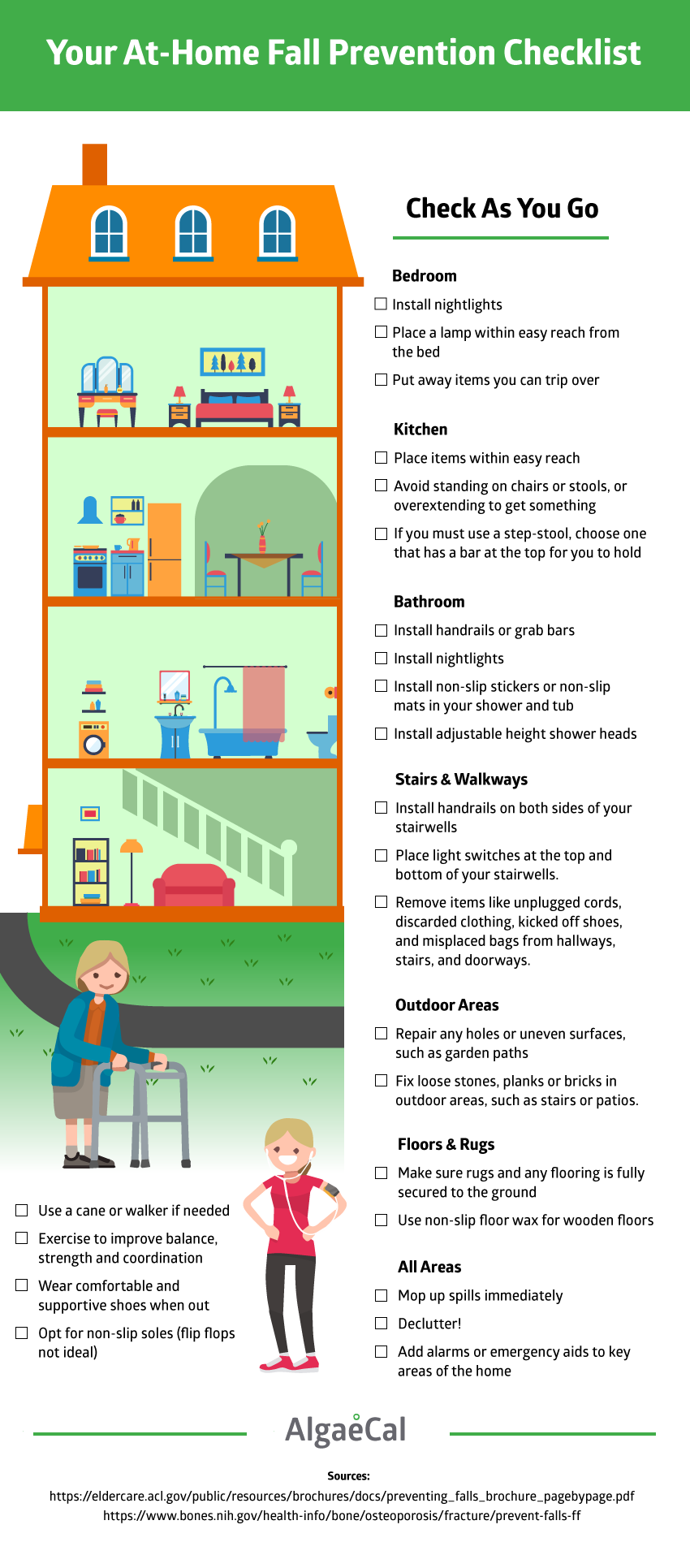 Fall Prevention Checklist Infographic