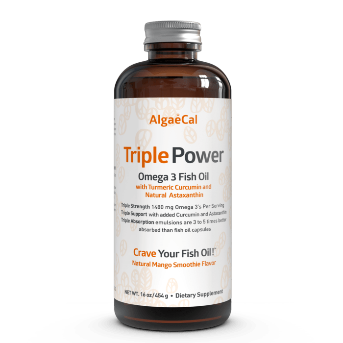 Triple power omega 3 fish oil from algaecal for Best time of day to take fish oil
