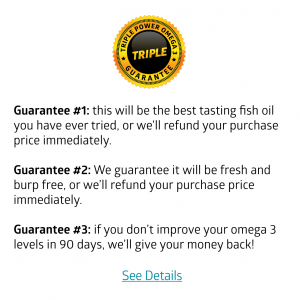Triple Power triple guarantee