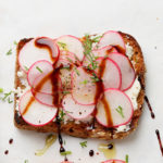 cucumber, radish and avocado toast