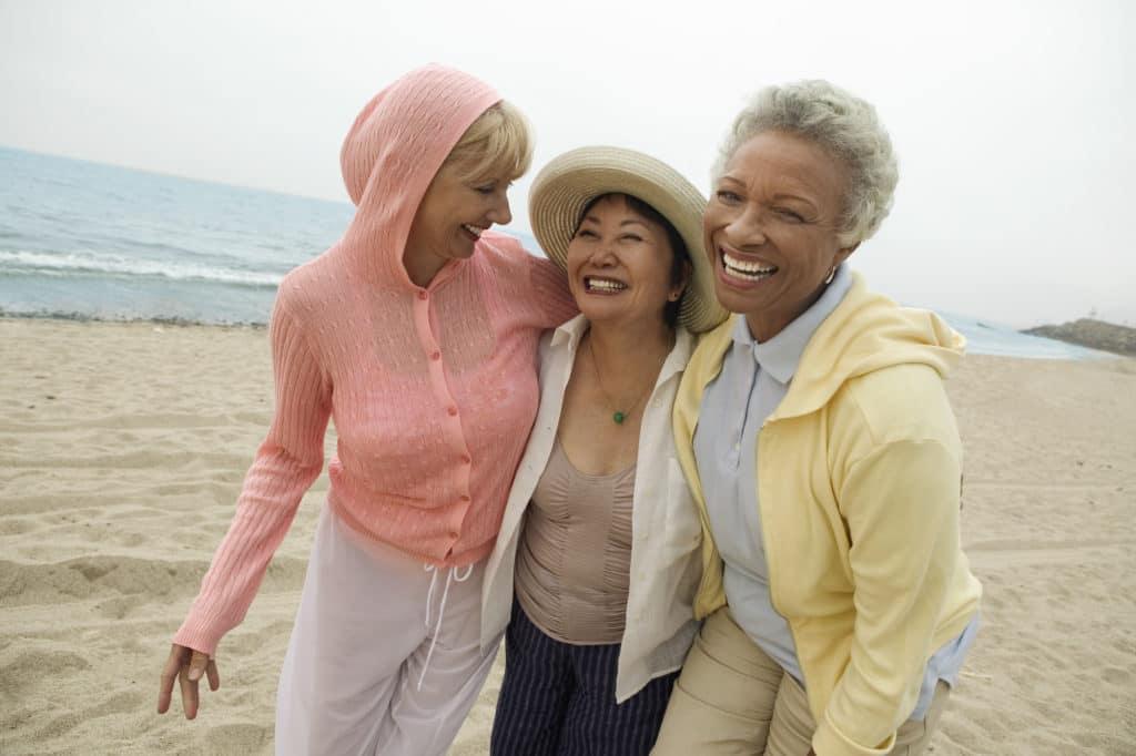 happy menopausal women