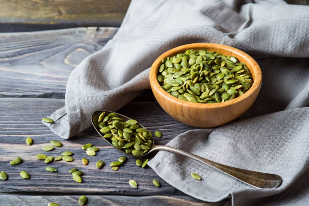 Pumpkin seeds - magnesium rich food
