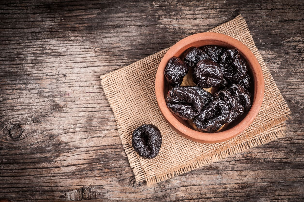 dried plums - foods for strong bones