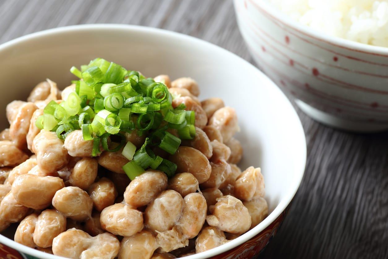 japanese natto and rice