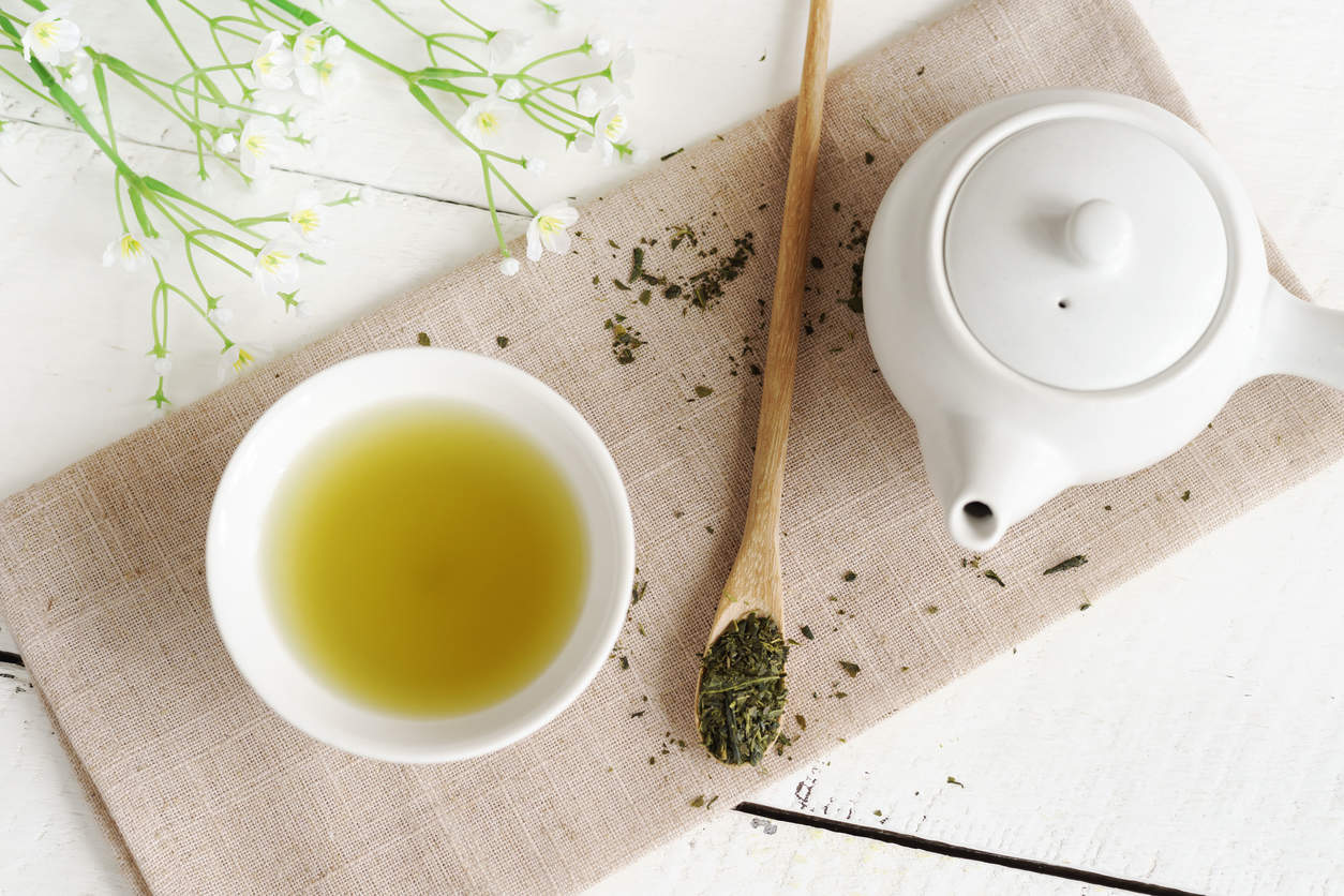 green tea - foods for strong bones
