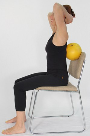 Exercises for Osteoporosis: Ball Behind Back Thoracic Extension