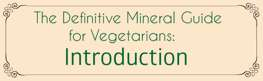 The Definitive Mineral Guide for Vegetarians: Introduction