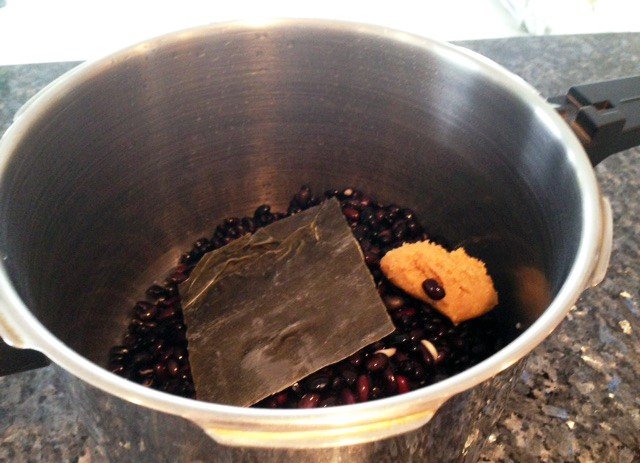 Black Beans with Miso and Kombu