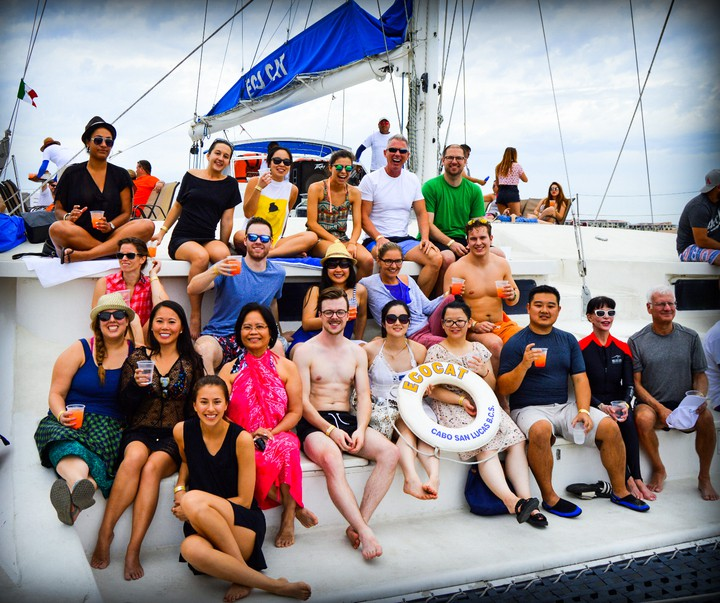 Group on Catamaran