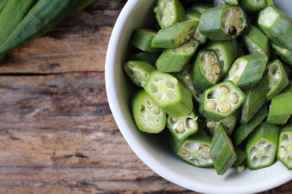 okra- magnesium rich food