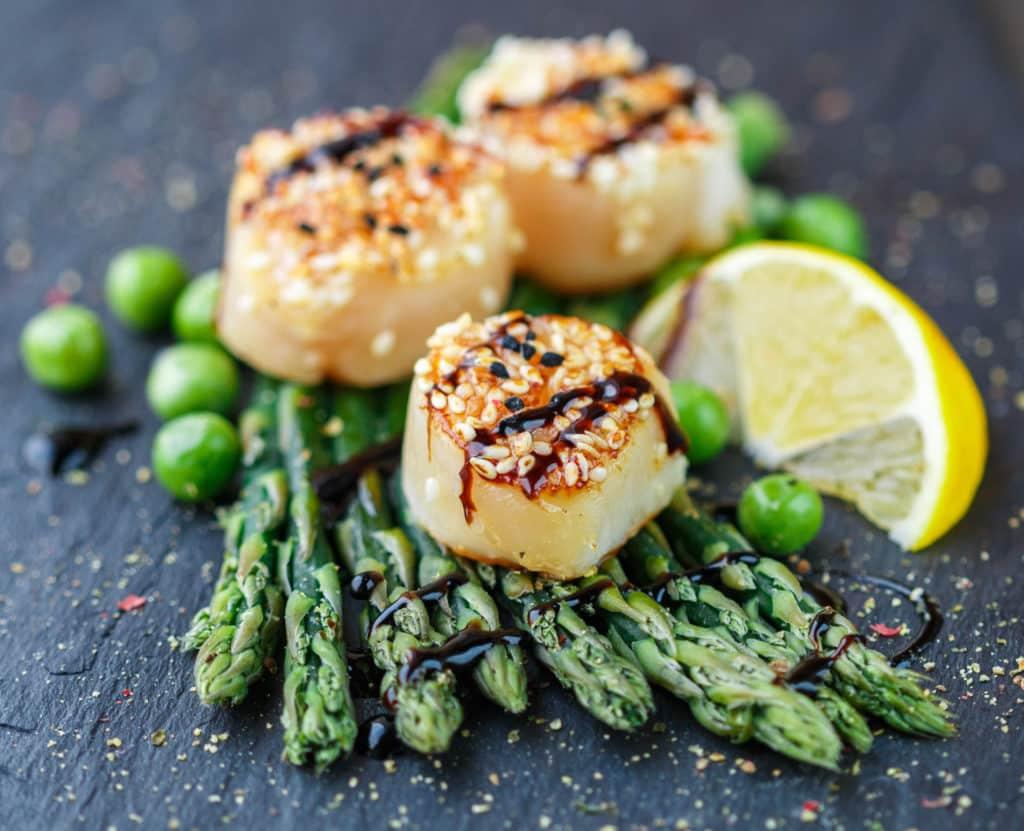 Scallops - magnesium rich foods