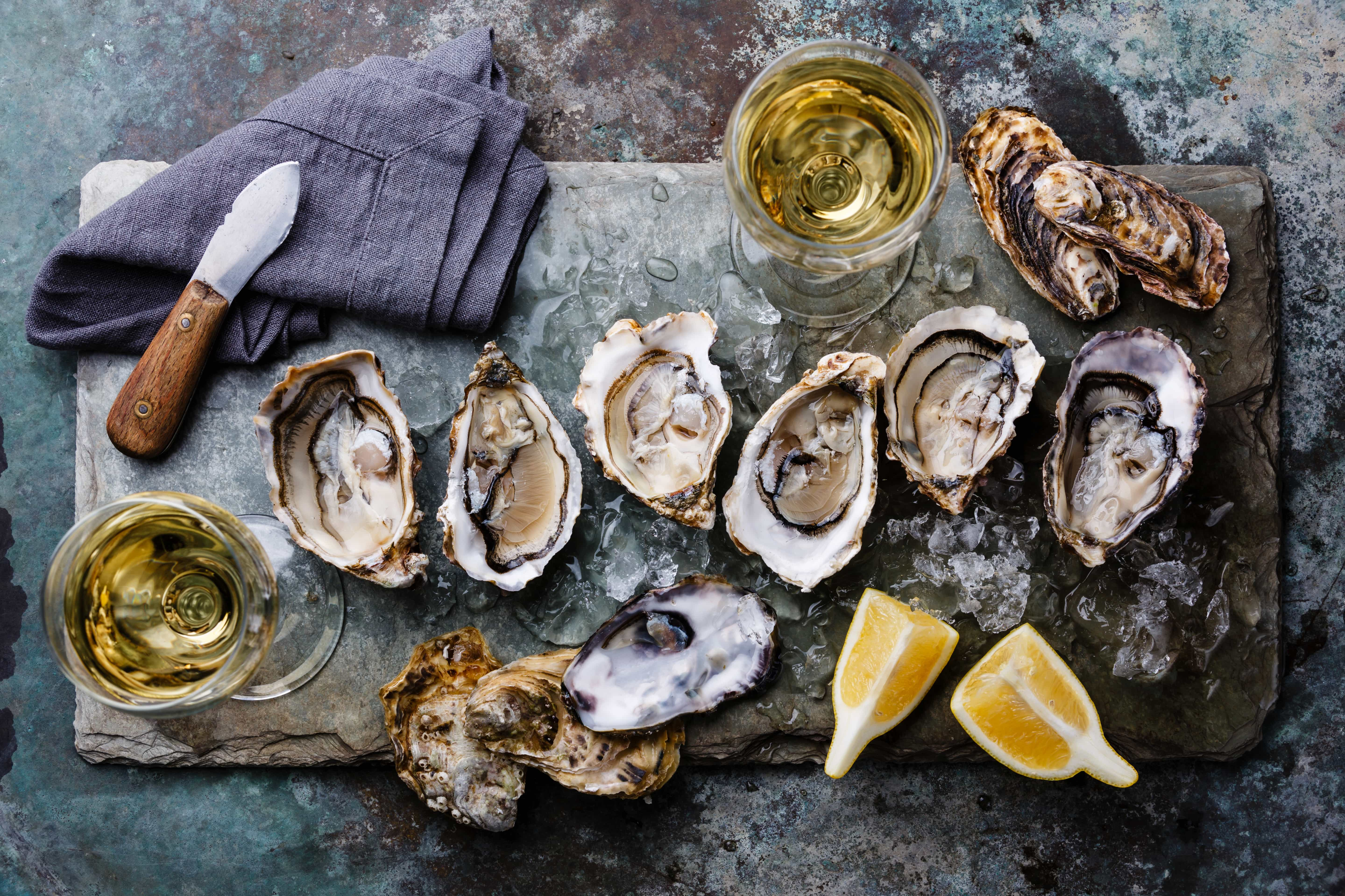 Oysters - magnesium rich foods